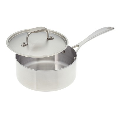 American Kitchen Cookware Premium Stainless Steel Covered 2 Quart Saucepan