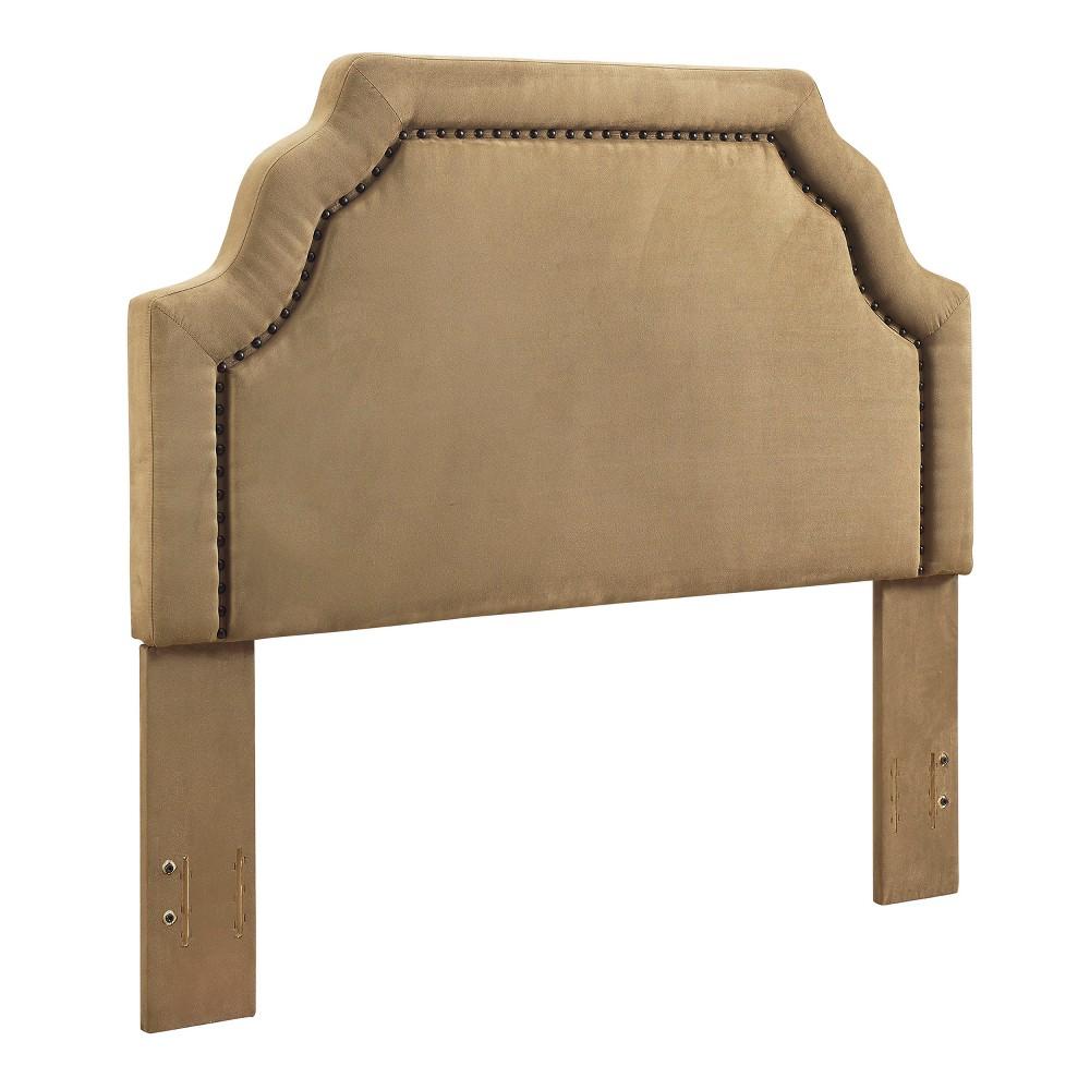 Loren Keystone Upholstered Full/Queen Headboard Camel - Crosley