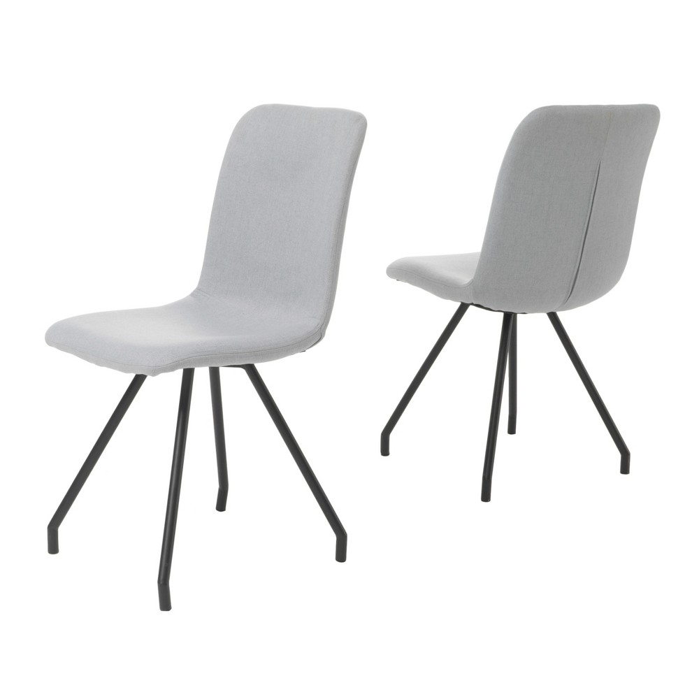 Bryson Dining Chair - Light Gray (Set of 2) - Christopher Knight Home