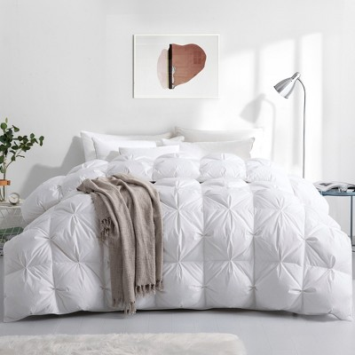 Puredown Winter 700 Thread Count 800 Fill Power 93% White Goose Down Baffle Box Comforter