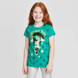 Girls' Disney Minnie Flip Sequin Short Sleeve T-Shirts - Green