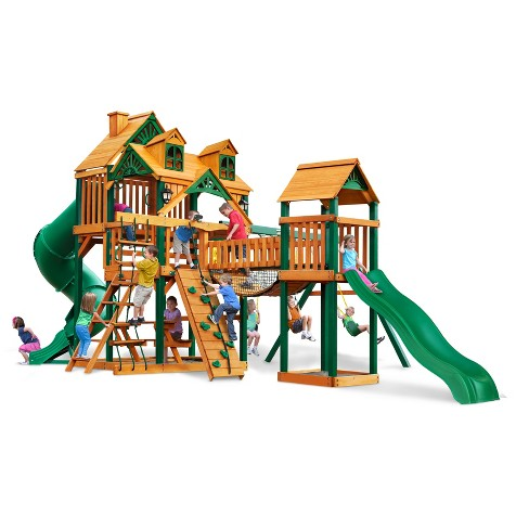 Gorilla Playsets Malibu Treasure Trove I Swing Set with Timber Shield - image 1 of 3