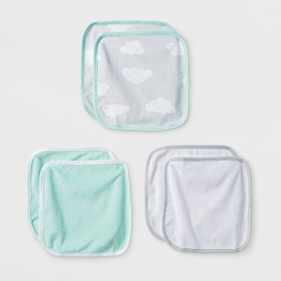 Babys' In The Clouds 6pk Washcloths - Cloud Island™ Mint