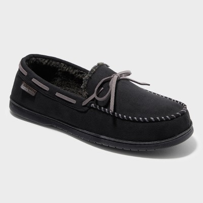 Men's Dearfoams Moccasin Slippers - Black