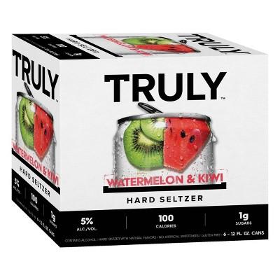 Truly Watermelon & Kiwi Hard Seltzer - 6pk/12 fl oz Slim Cans