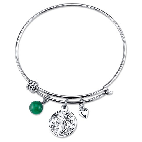 "Women's Stainless Steel Dreaming of you Tinkerbell Wire Bracelet - Silver (8"") - image 1 of 2"