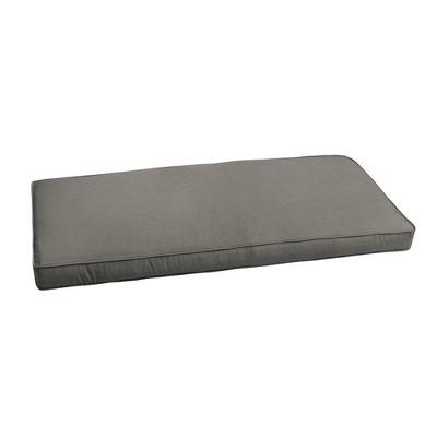 Sunbrella Canvas Outdoor Bench Cushion Charcoal Gray