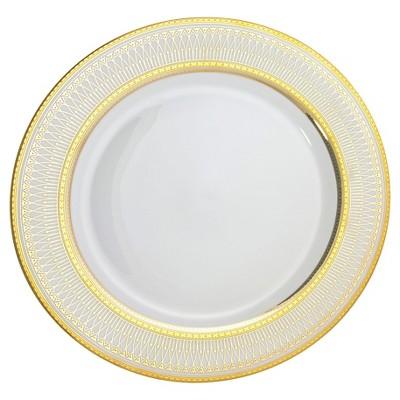 "10 Strawberry Street Iriana Dinner Plates White/Gold - 10.25""x10.25"" Set of 4"