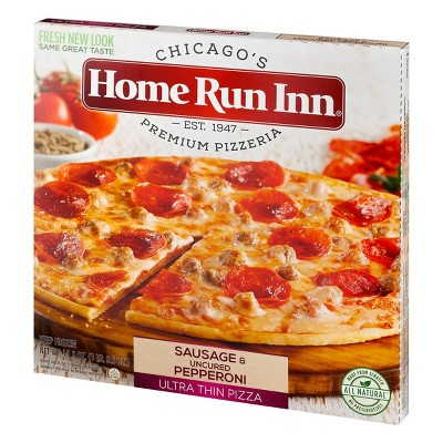 Home Run Inn Ultra Thin Sausage and Uncured Pepperoni Frozen Pizza - 19.5oz