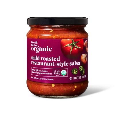 Organic Mild Roasted Restaurant Style Salsa 16oz - Good & Gather™
