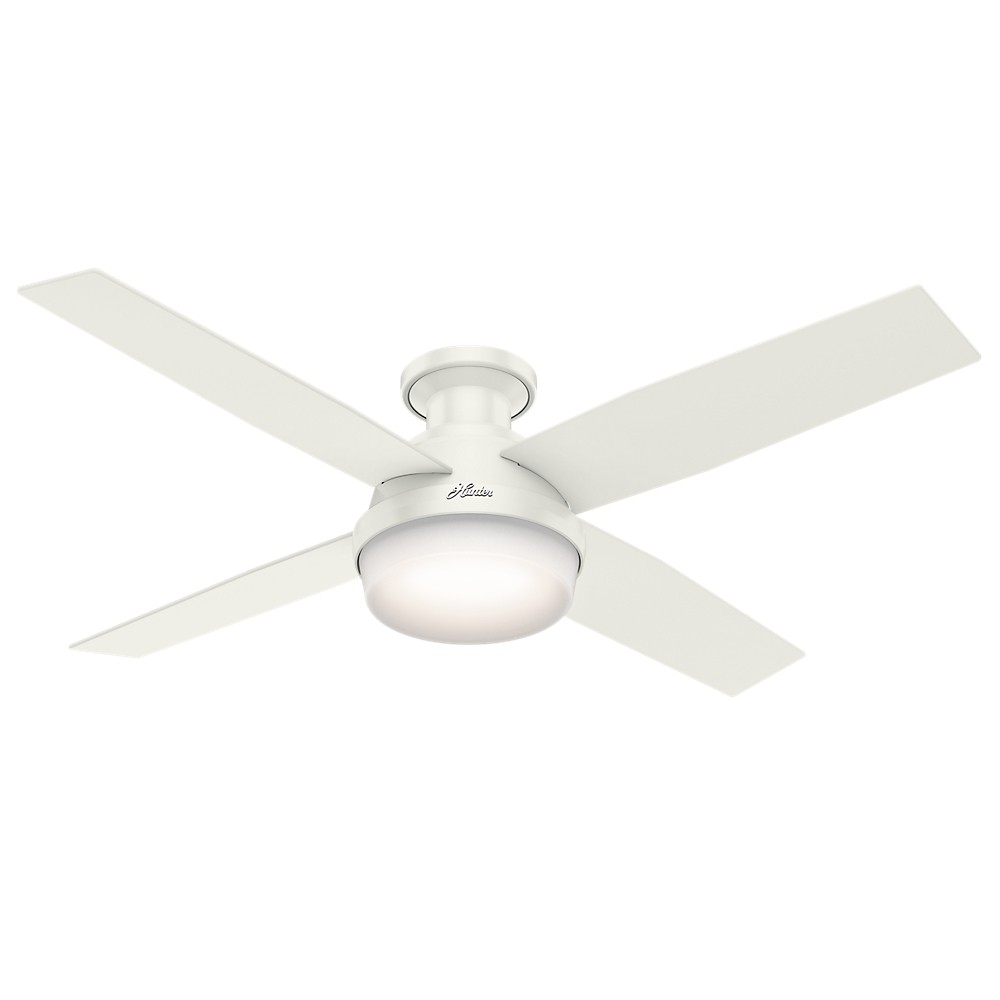 """Image of """"52"""""""" Dempsey Low Profile Ceiling Fan with Light and Handheld Remote Fresh White - Hunter Fan"""""""