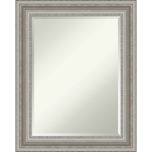 24 X 30 Parlor Framed Bathroom Vanity Wall Mirror Silver Amanti Art Target