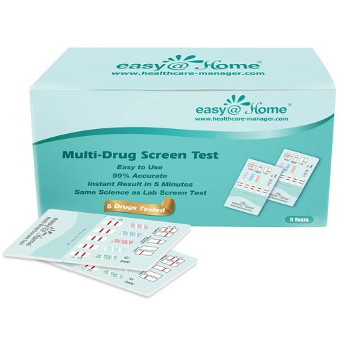 Easy@Home 5 Panel Instant Drug Test Kit – 5pk - image 1 of 3