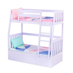 "Our Generation Bunk Beds for 18"" Dolls - Lilac Dream Bunks"