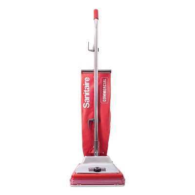 Sanitaire Upright Vacuum with Shake-Out Bag, 17.5 lb, Red SC886G