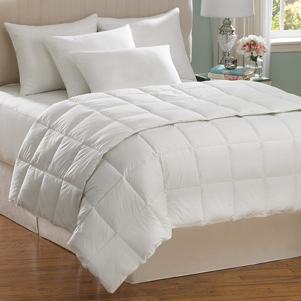 Image of AllerEase Allergen Barrier Down Alternative Comforter - White (Full/Queen)