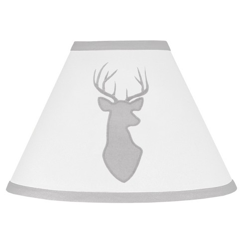 Gray & White Woodland Deer Lampshade - Sweet Jojo Designs® - image 1 of 1