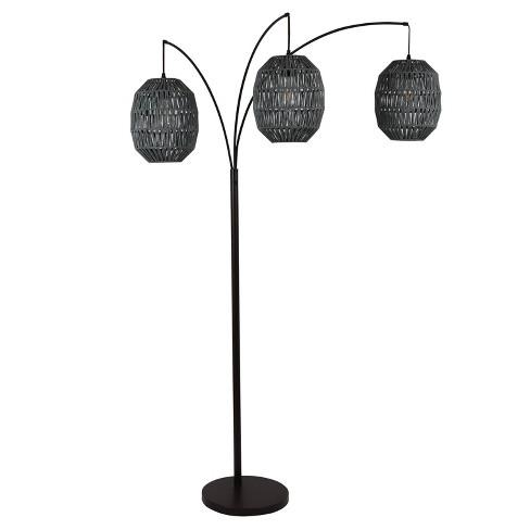 "75"" 3 Light Laurette Floor Lamp Black - Decor Therapy - image 1 of 4"