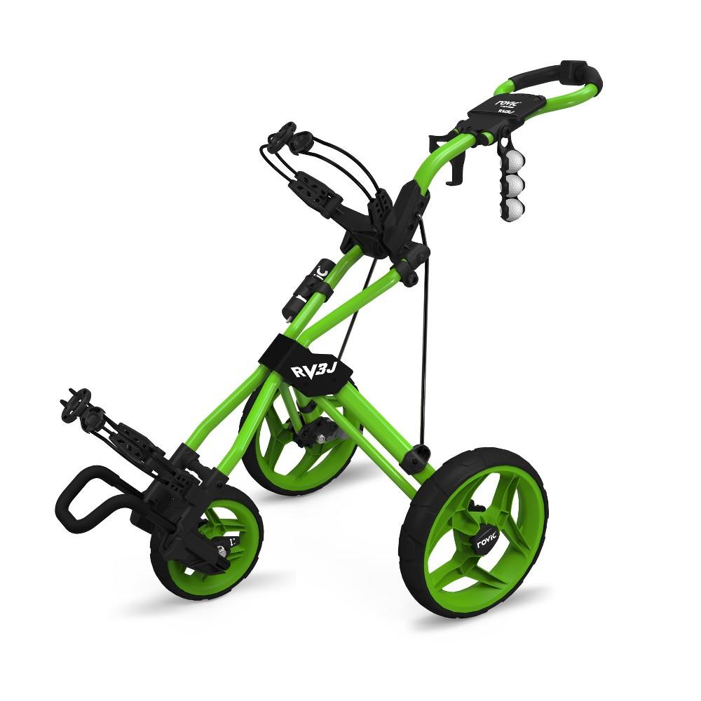 Clicgear Rovic RV3J Golf Push Cart - Lime (Green)