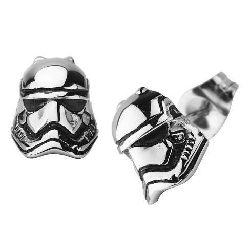 Star Wars Episode 7 Stormtrooper 3D Stainless Steel Stud Earrings - image 1 of 1