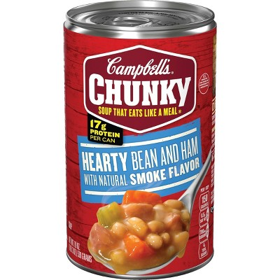 Campbell's Chunky Hearty Bean & Ham Soup - 19oz