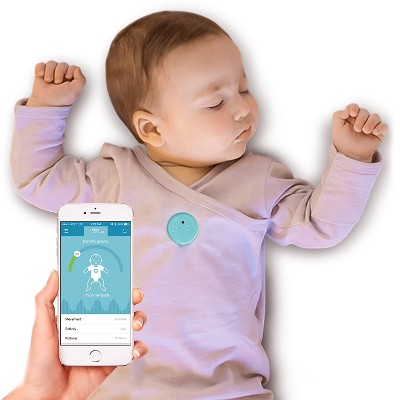 MonBaby Smart Button Baby Monitor - Blue