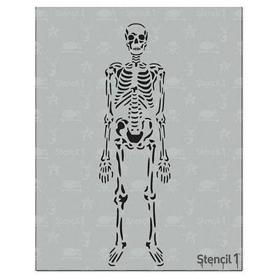"Stencil1 Skeleton - Stencil 8.5"" x 11"""