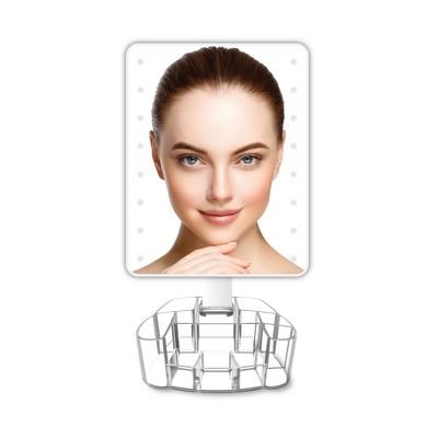 LED Vanity Mirror with Acrylic Organization Base White - Coby