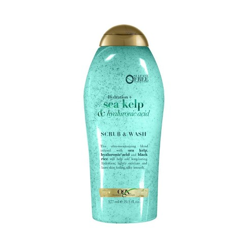 OGX Hydration + Sea Kelp & Hyaluronic Acid Scrub & Wash - 19.5 fl oz - image 1 of 4
