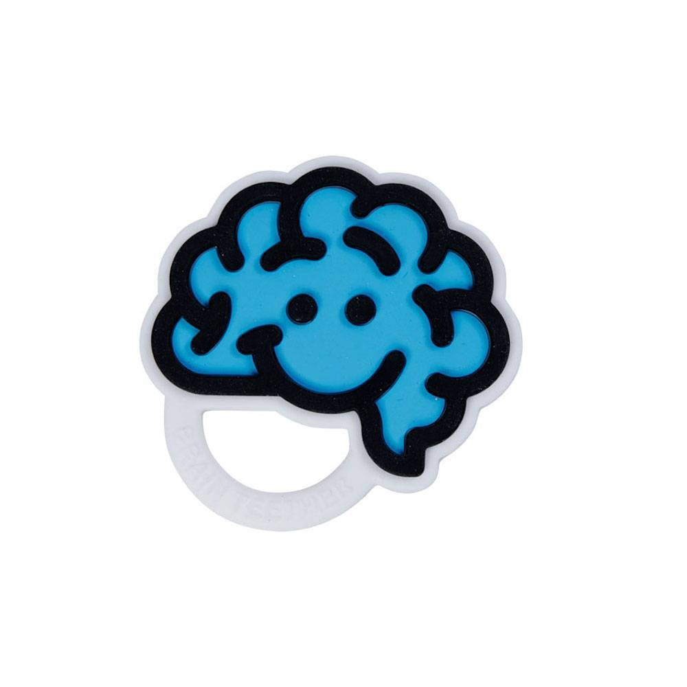 Image of Fat Brain Toys Brain Teether - Blue