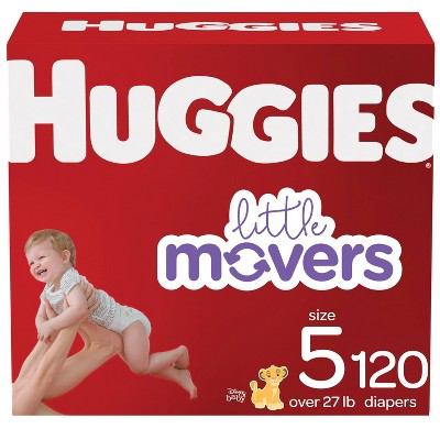Huggies Little Movers Baby Disposable Diapers - Size 5 - 120ct