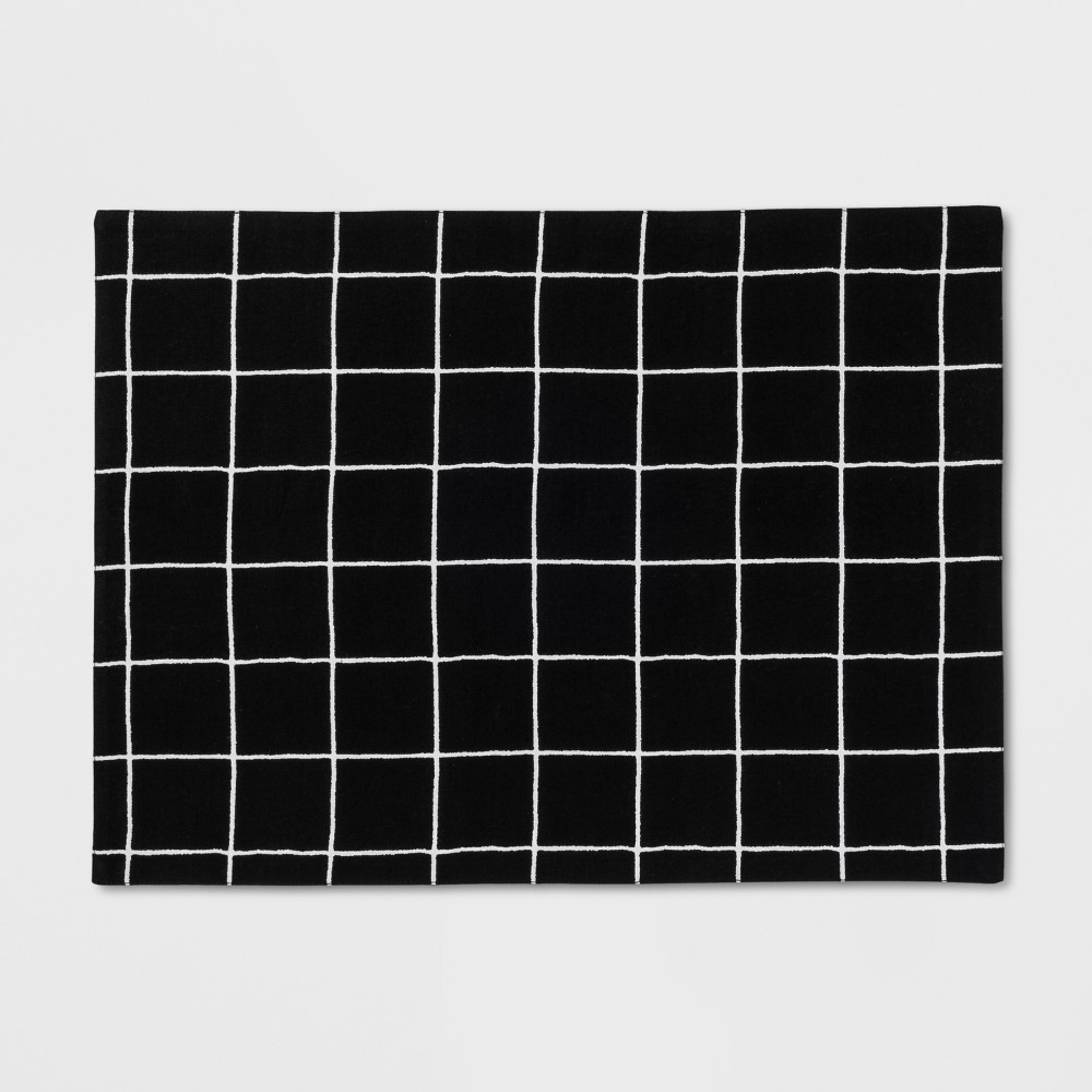 Black Windowpane Placemat - Project 62