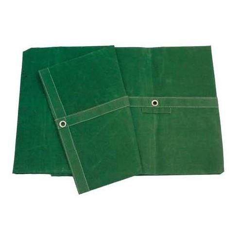 ZORO SELECT 5WTT3 Tarp, 8 x 16 ft., 20 Mil, Cotton Canvas, Standard Duty, Green - image 1 of 1