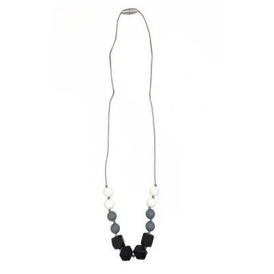 Itzy Ritzy Teething Necklace - Black/White