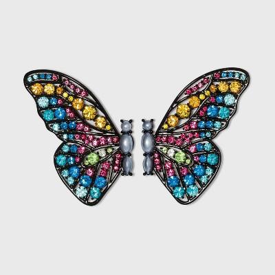 SUGARFIX by BaubleBar Crystal Butterfly Stud Earrings - Black