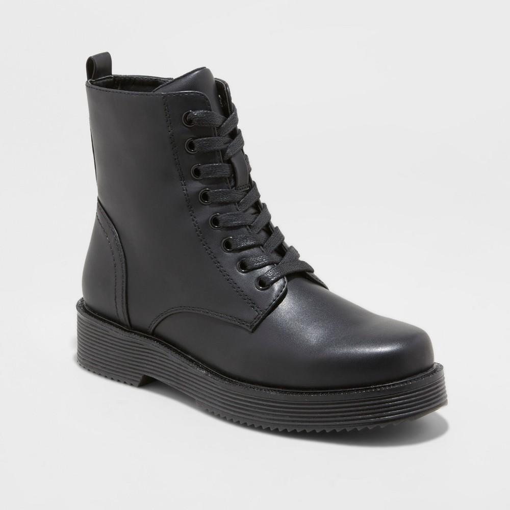Women's Dayton Combat Boots - Wild Fable Black 6.5