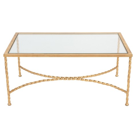 Coffee Table Gold Black - Safavieh - image 1 of 4
