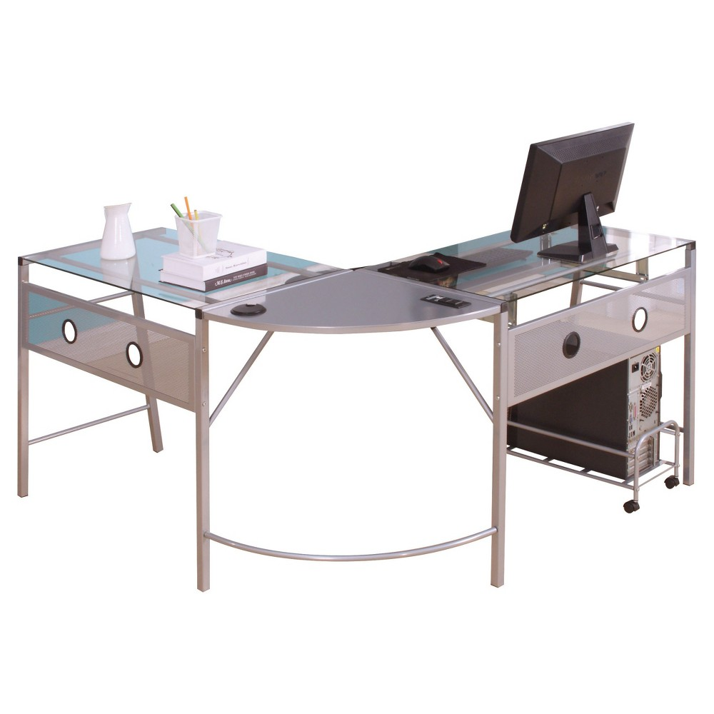 Computer Desk Acme Furniture Silver Computer Desk Acme Furniture Silver