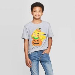 Boys' Pokemon Pikachu Halloween Short Sleeve T-Shirt - Heather Gray