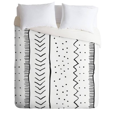 Becky Bailey Moroccan Stripe Comforter Set Black/White - Deny Designs