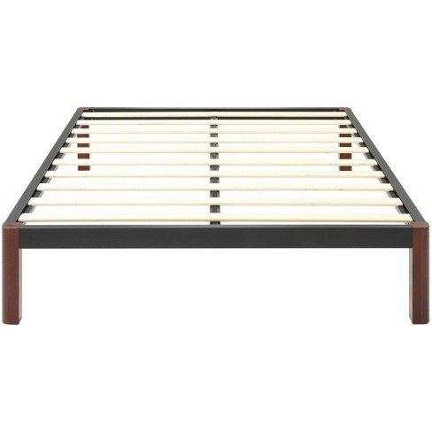 Classic Brands DeCoro Devon Modern Style Wood Slat and Metal Platform Bed Frame with 14 Inch Legs and No Box Spring Required, Queen Size - image 1 of 4