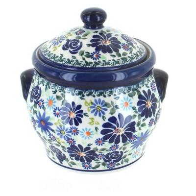 Blue Rose Polish Pottery Fantasy Medium Canister