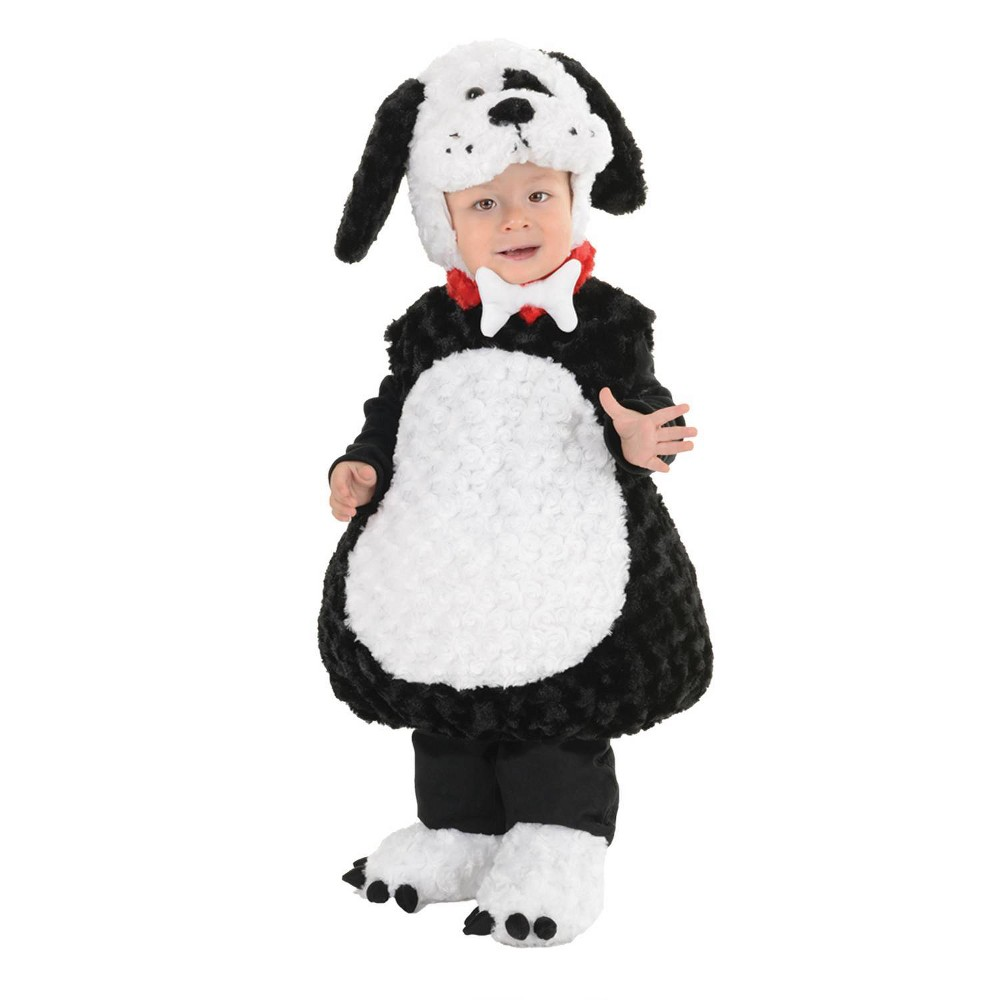 Image of Halloween Baby Black and White Puppy Halloween Costume 12-18M, Adult Unisex, Size: 12-18 Months, MultiColored