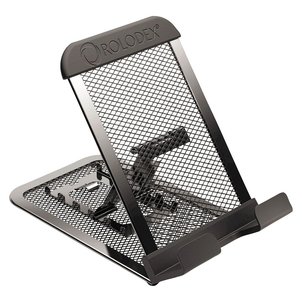 Rolodex Adjustable Mobile Device Mesh Stand, Black, Grey