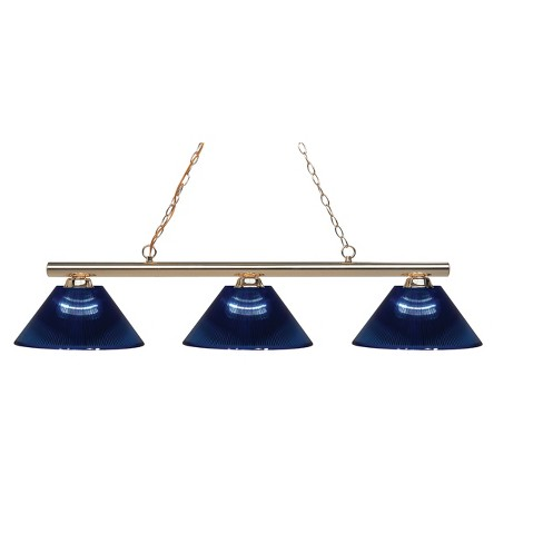 Billiard Ceiling Lights with Dark Blue Glass (Set of 3) - Z-Lite - image 1 of 1