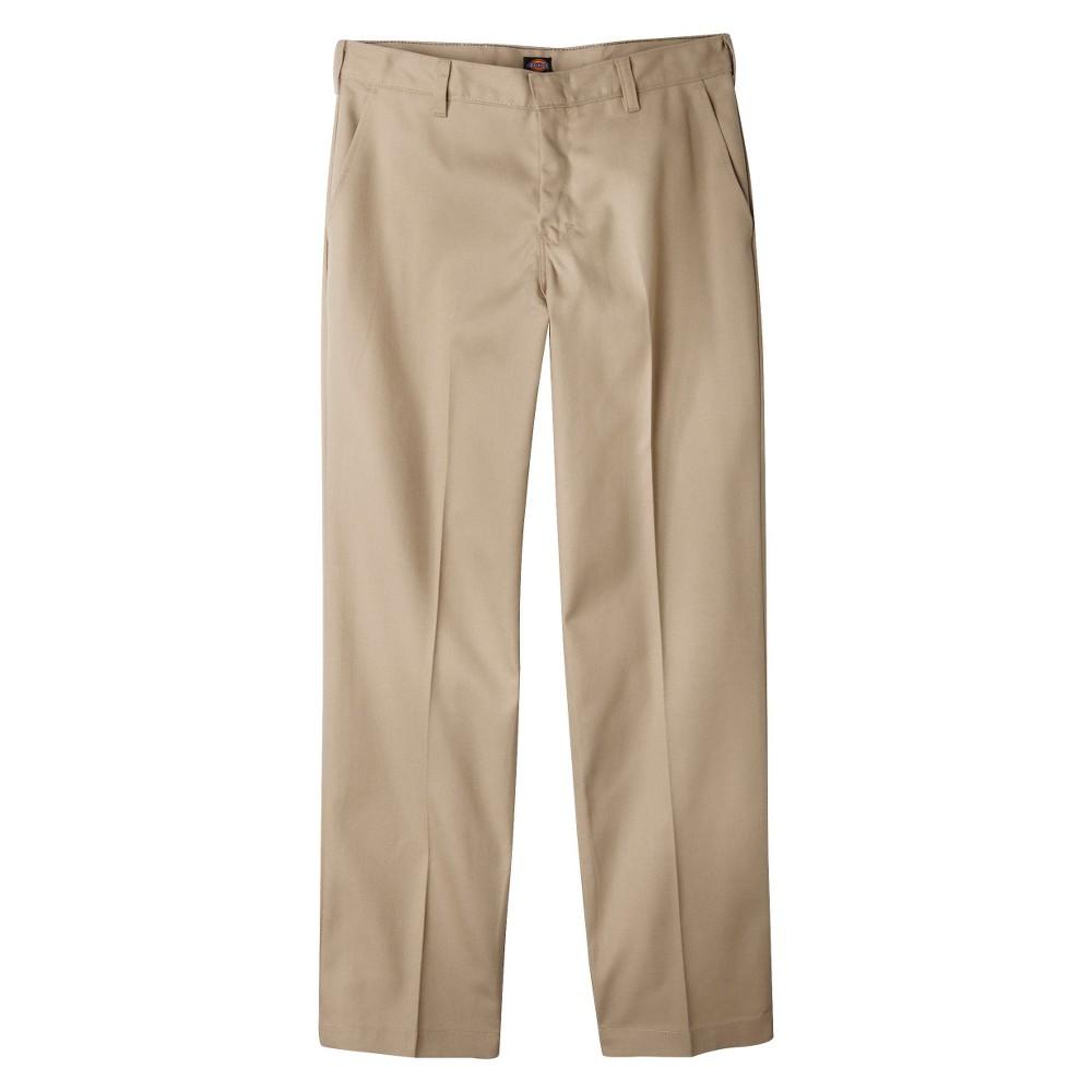 Dickies Boys' Classic Fit Uniform Twill Pants - Khaki (Green) 32x34