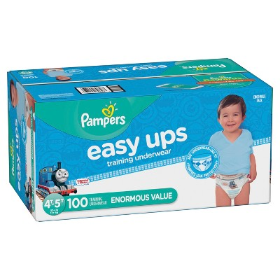 Pampers Easy Ups Boys Training Pants Enormous Pack - 4T-5T (100ct)
