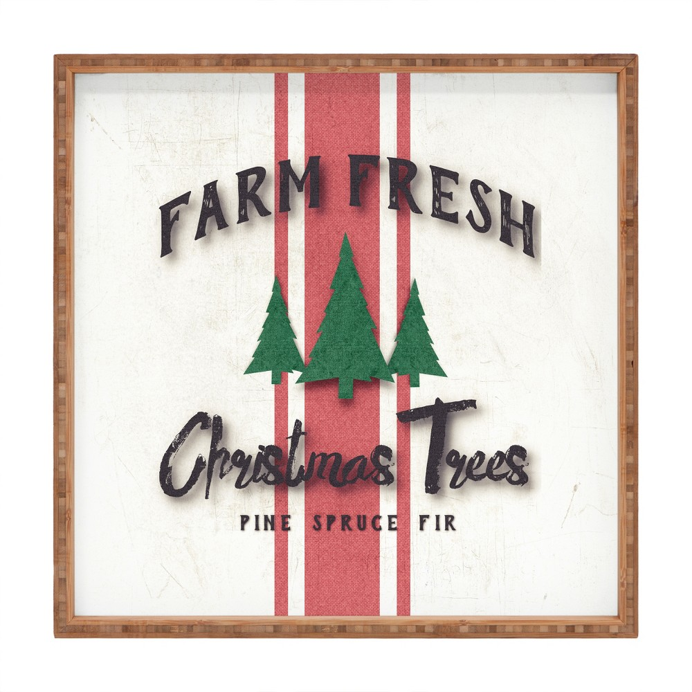 Monika Strigel Farmhouse Fresh Trees Tray (16) - Deny Designs, Red Beige