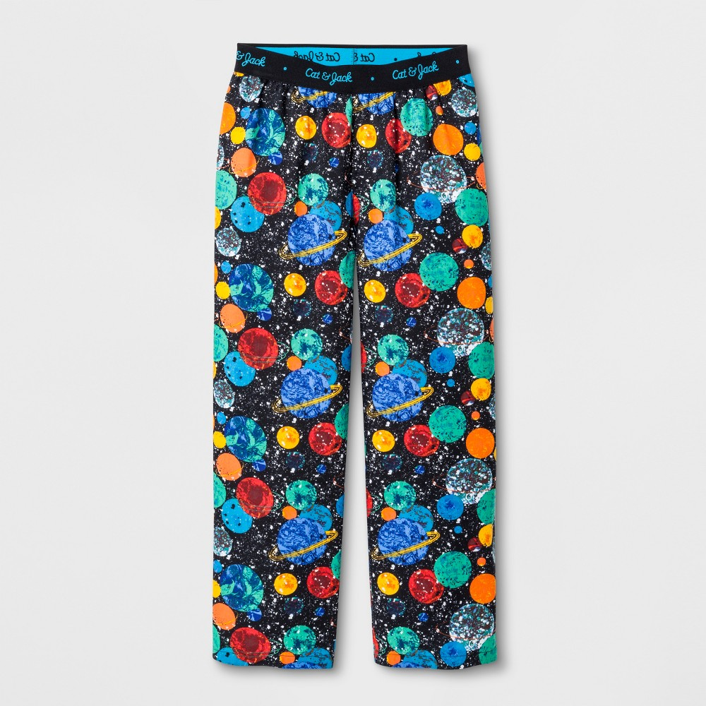 Boys' Woven Space Planets Pajama Pants - Cat & Jack Black XL