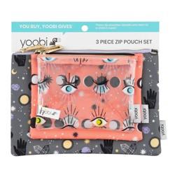 3pc Zip Pouch Set - Mystical Magic, Lunar Phases, Eternal Eyes - Yoobi™
